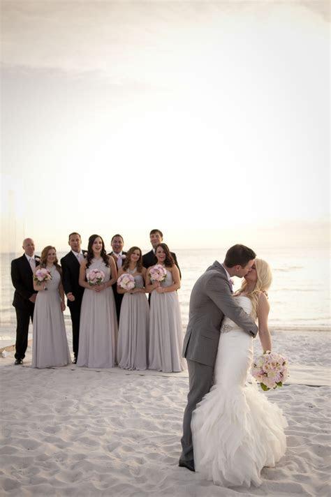 A Glamorous Silver & Blush Beach Wedding   Every Last Detail