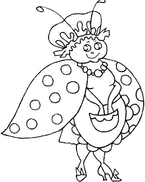 Disegno Coccinella Da Coloraredisegno Coccinella Fattoria