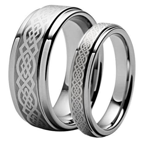 Men's & Woman's Matching Tungsten Carbide Celtic Knot