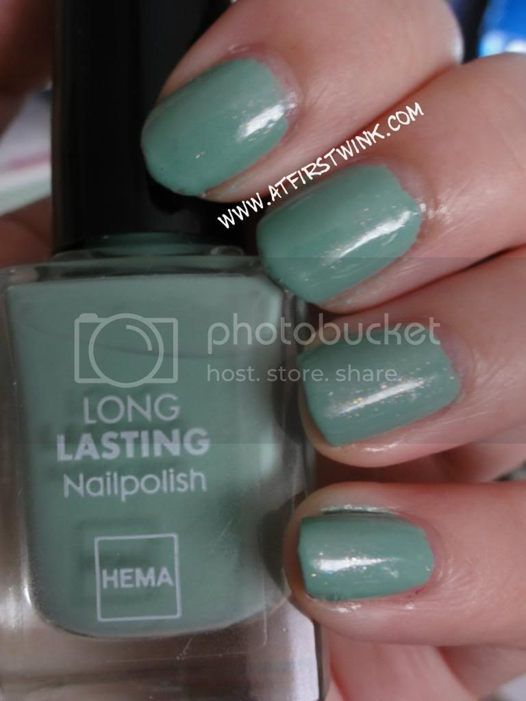 Chanel Jade dupe, the HEMA nail polish #843 Dark Sea foam