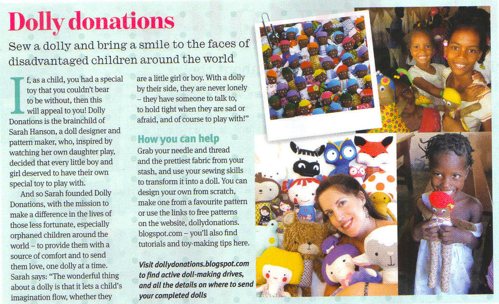 Dolly Donations in Craftseller Magazine