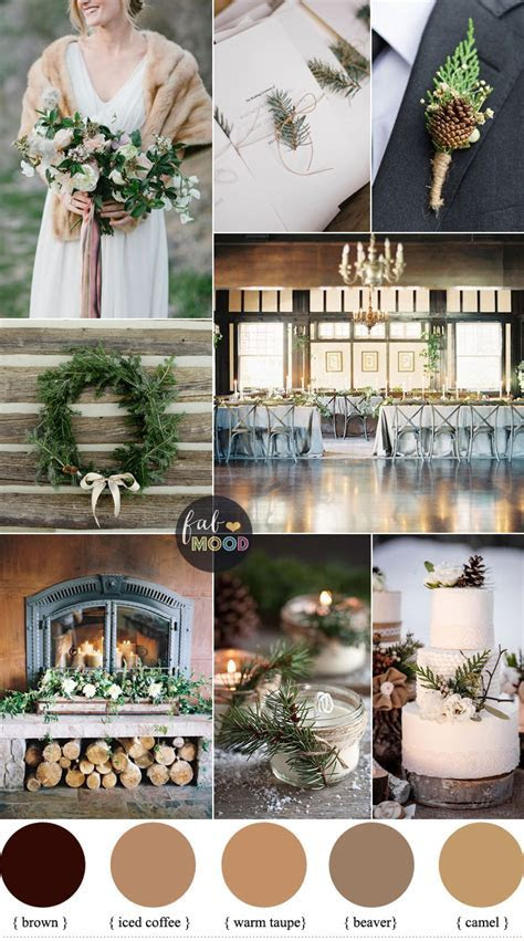Rustic Winter Wedding in shades of neutral { Warm Taupe