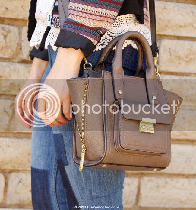 3.1 Phillip Lim for Target mini satchel in taupe, Phillip Lim Pashli look alike bag, Pashli look for less