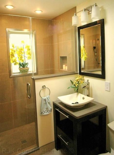 Zen Bathroom with Integrated Cabinetry - Modern - Bathroom ...