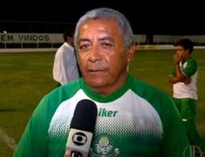 Sebastião Murilo, Dario, técnico do Palmeira de Goianinha (Foto: Reprodução/Inter TV Cabugi)