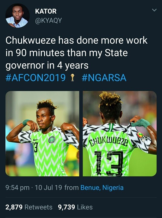 CHUKWUEZE HAS DONE MORE WORK IN 90 MINUTES THAN MY STATE GOVERNOR IN 4-YEARS...Read details