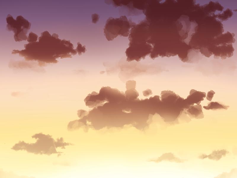 夕空を描いてみた ふしきなイラスト見聞録
