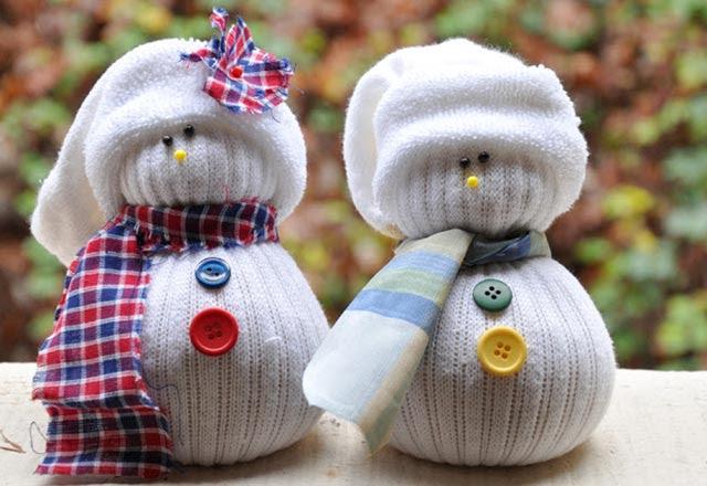 çoraptan Kardan Adam Yapımı çoraptan Kardan Adam Nasıl Yapılır