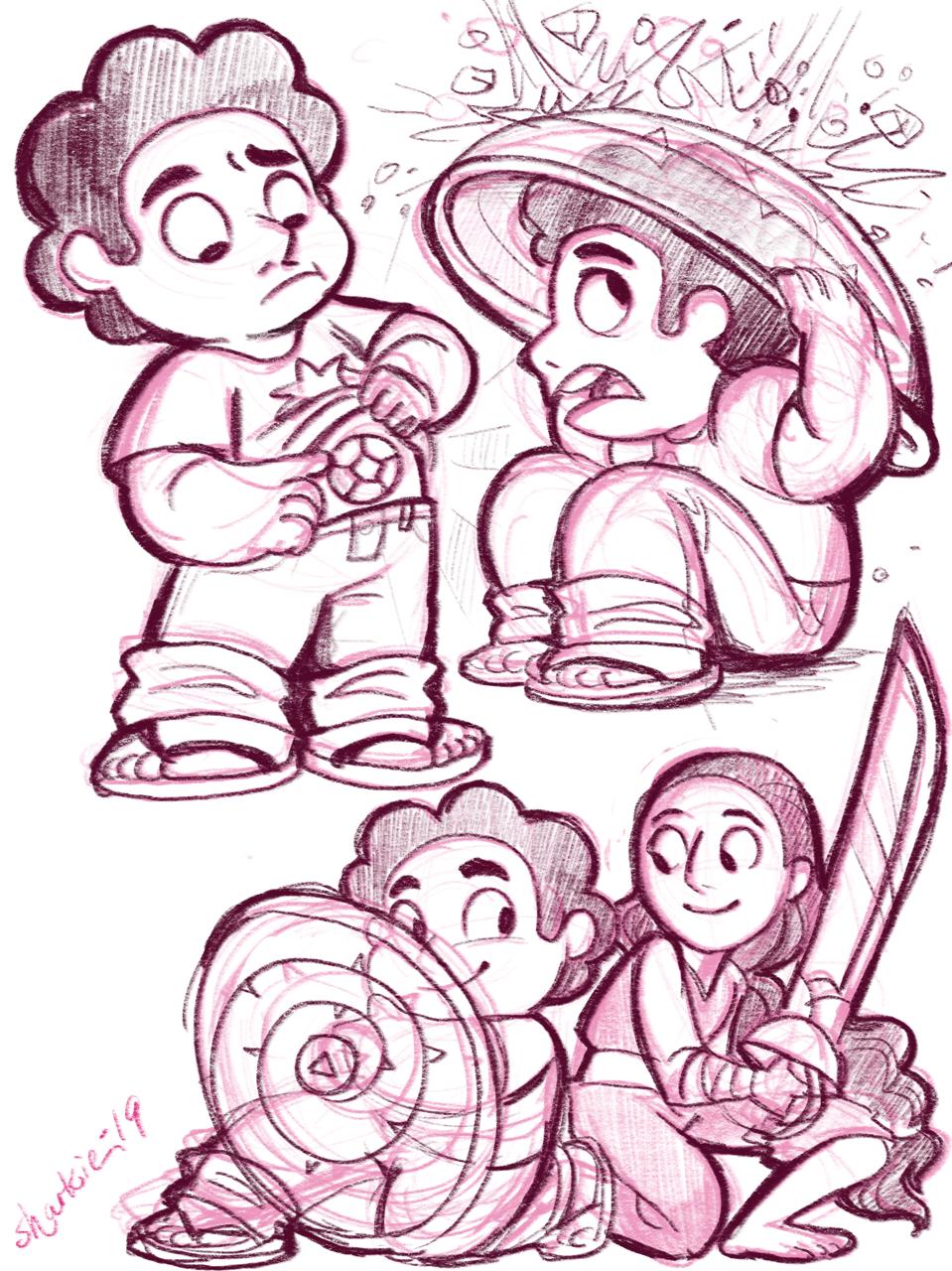 Steven doodles.