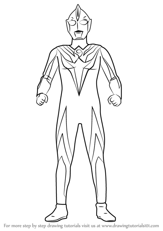 Learn How To Draw Ultraman Cosmos Ultraman Step By Step Drawing