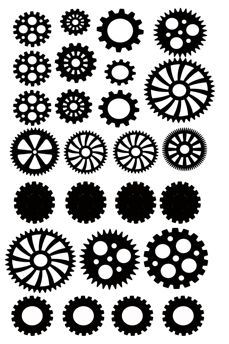 miniature cogs 100 x 120 suitable also for project life,ATC and