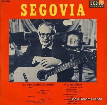 SEGOVIA, ANDRES guitar solos
