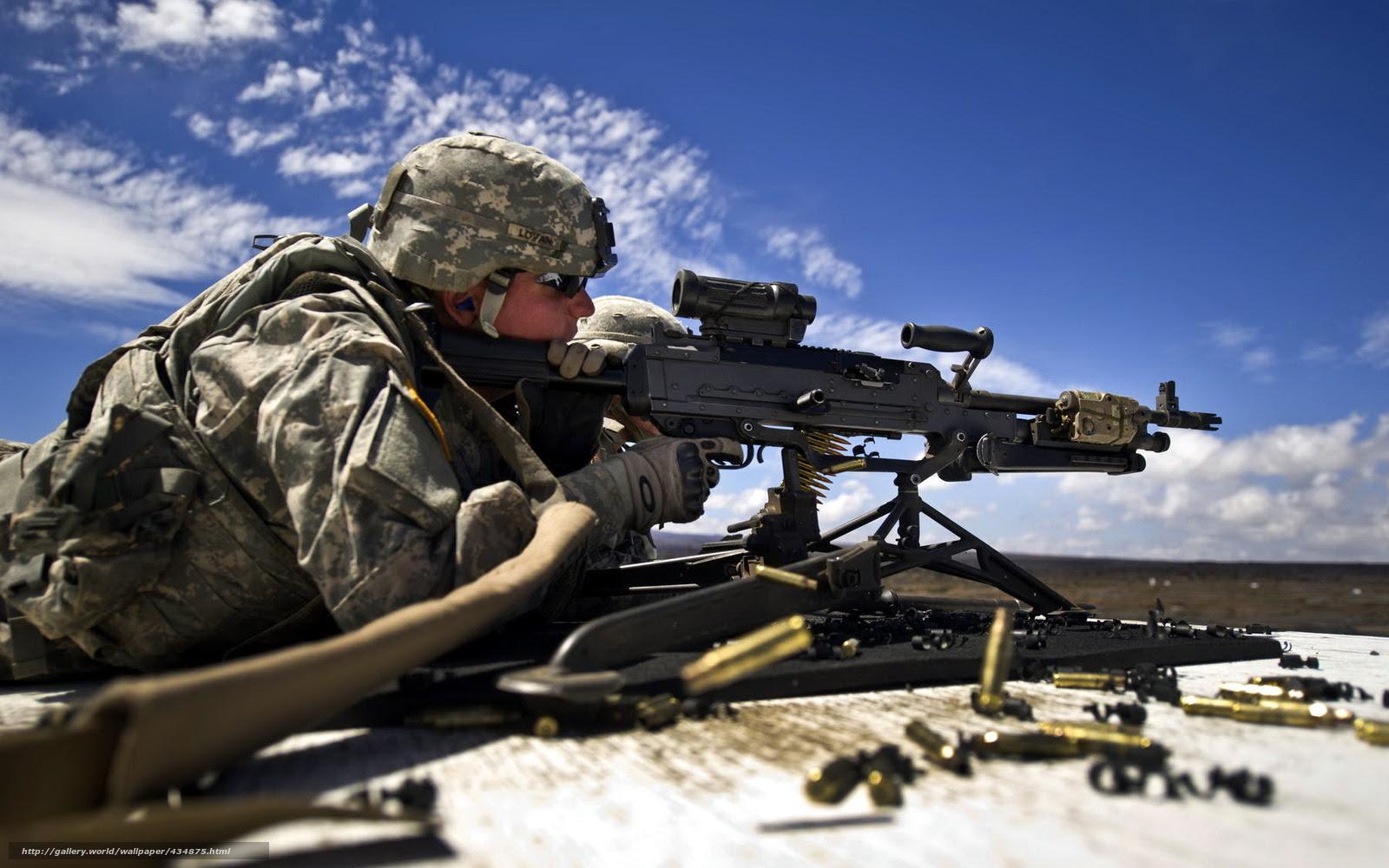 壁紙をダウンロード 兵士 銃 武器 デスクトップの解像度のための無料