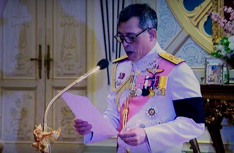 Novo rei da Tailândia indultou milhares de detentos (Foto: Thai TV/AP)