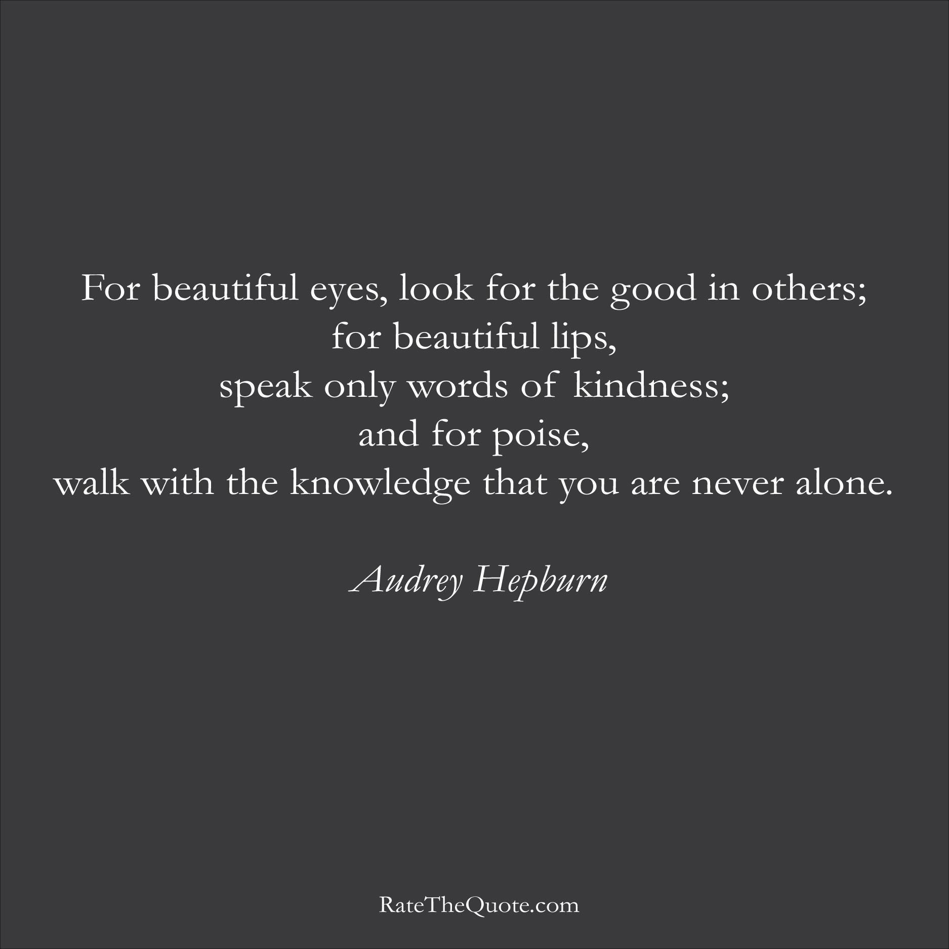 Audrey Hepburn Quotes Ratethequote