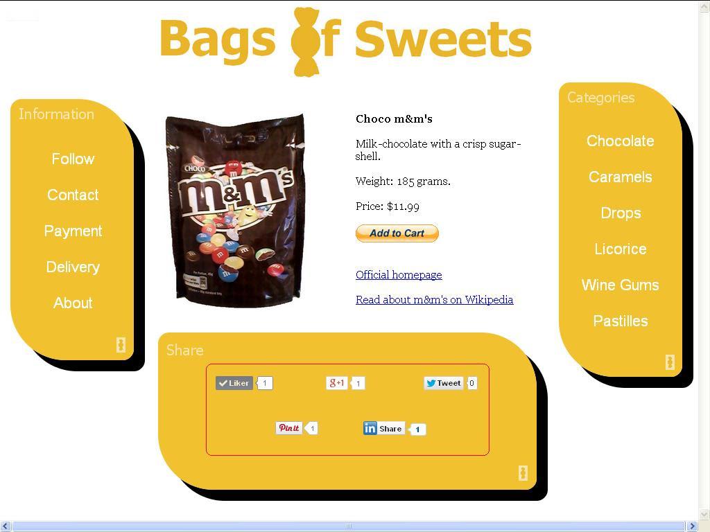 del knapper bags of sweets