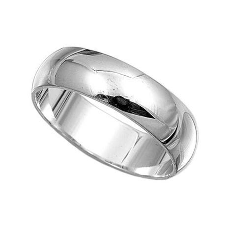 .925 Sterling Silver Ring Plain 6mm Wedding Band Jewelry