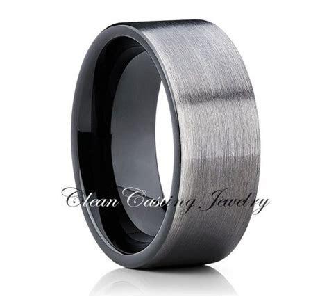 Gun Metal Tungsten Wedding Band,Mens Tungsten Ring,Men