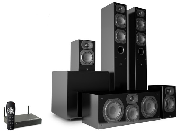 Aperion Audio Intimus 4T Summit touts uncompressed 51channel audio without the cords