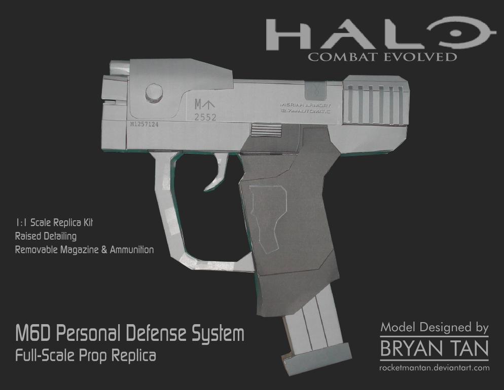 M6D Magnum Sidearm Papercraft