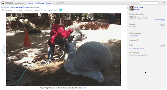 picasa google photos upload embed 8