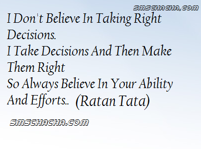 Taking Right Decision Quotes
