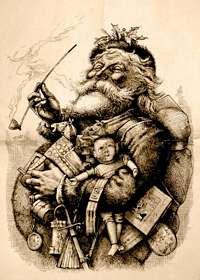 Santa by Thomas Nast in 1881