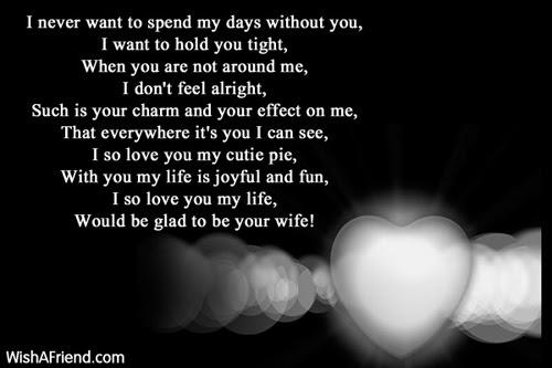 I Wish To Spend Poem For Boyfriend