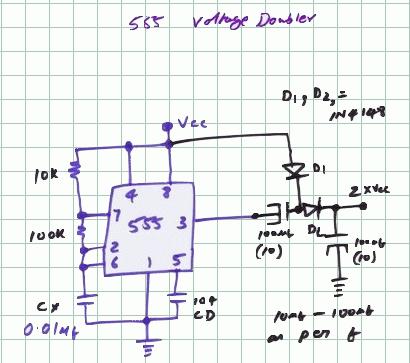 Schematics Of Delabs Circuit Diagrams Lm555 Voltage Doubler