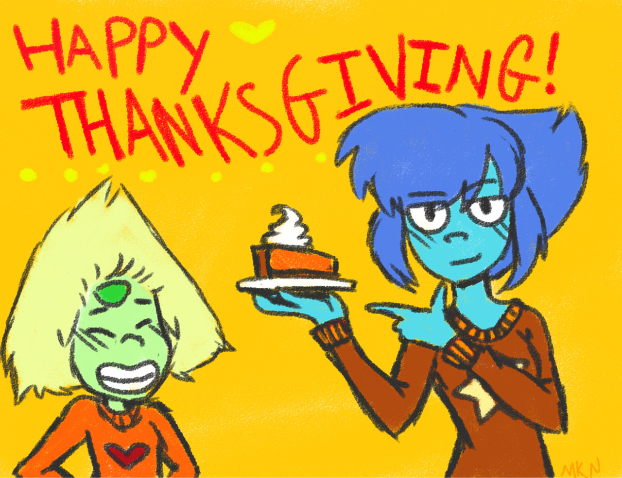 Happy Thanksgiving, ft. everyone's favorite lesbian farmers. Stay safe everyone, and have a great day!