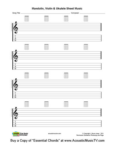 blanksheetmusic. Ukulele Blank Sheet Music