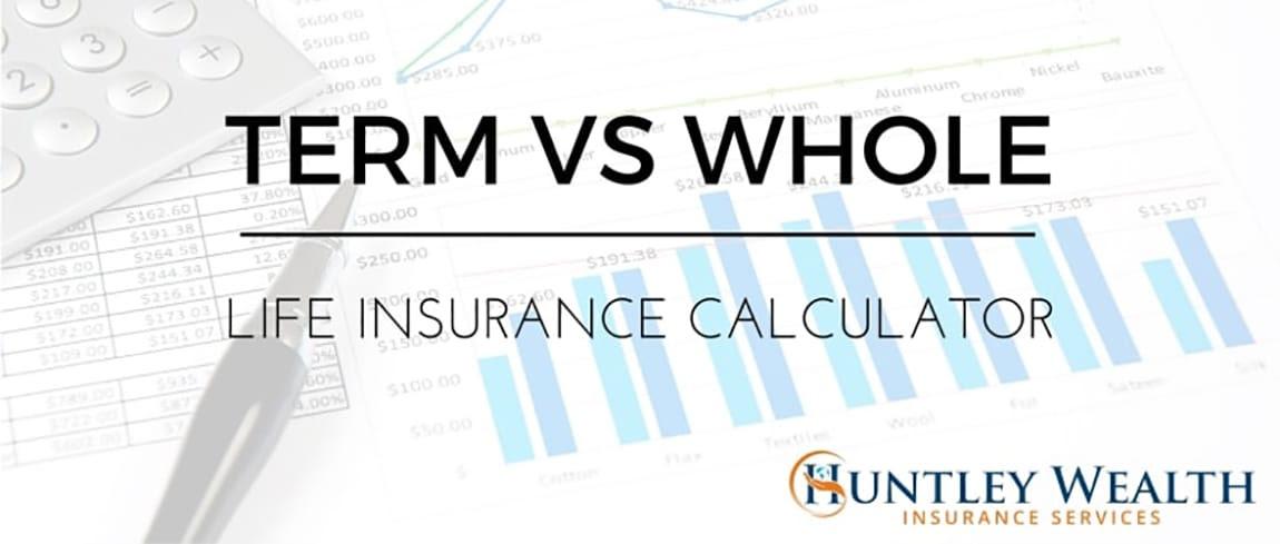 Term vs. Whole Life Insurance Cost & Cash Value Calculator