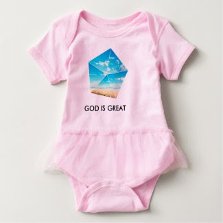 GOD IS GREAT BABY BODYSHIRT BABY BODYSUIT