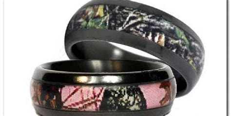 2019 Popular His And Hers Camo Wedding Bands