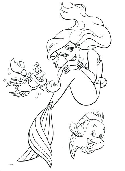Baby Ariel Coloring Pages at GetColorings.com | Free ...