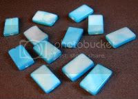 Blue Shell Rectangle Beads