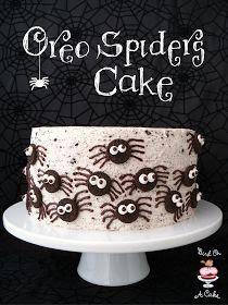 Oreo spider cake