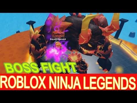 Game roblox ninja legends Melawan Boss