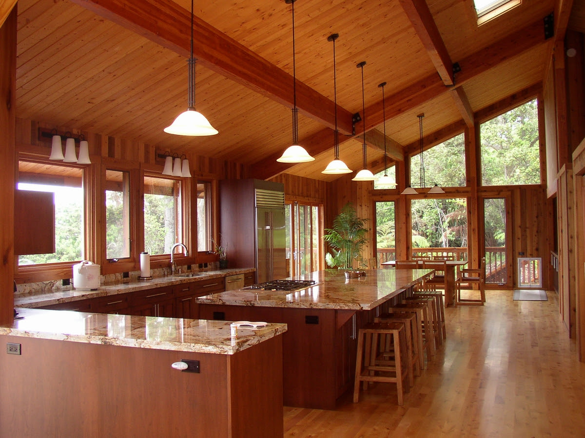 Mauna Loa Cedar Homes Hawaii Custom Home Builder Post Beam Log