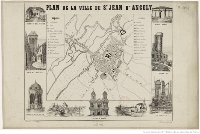 Mapa da cidade de St-Jean d'Angely / Dolivet, del