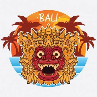 background map bali travel vector
