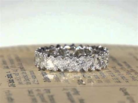 Vintage French 1950s Heart Shaped Diamond Eternity Band