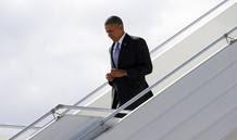 El presidente de EE.UU., Barack Obama, llega a San Petersburgo, Rusia, para la cumbre del G20