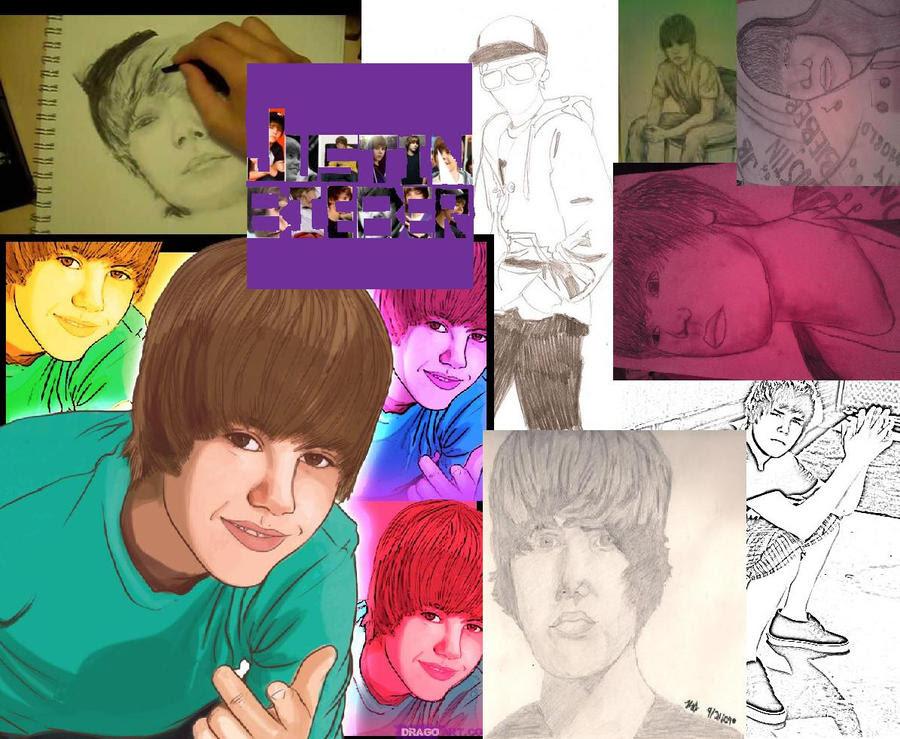 Justin Bieber collage by ~VampireFreak4ever on deviantART