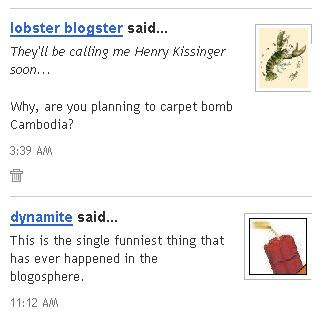 Lobster and Dynamite giggling