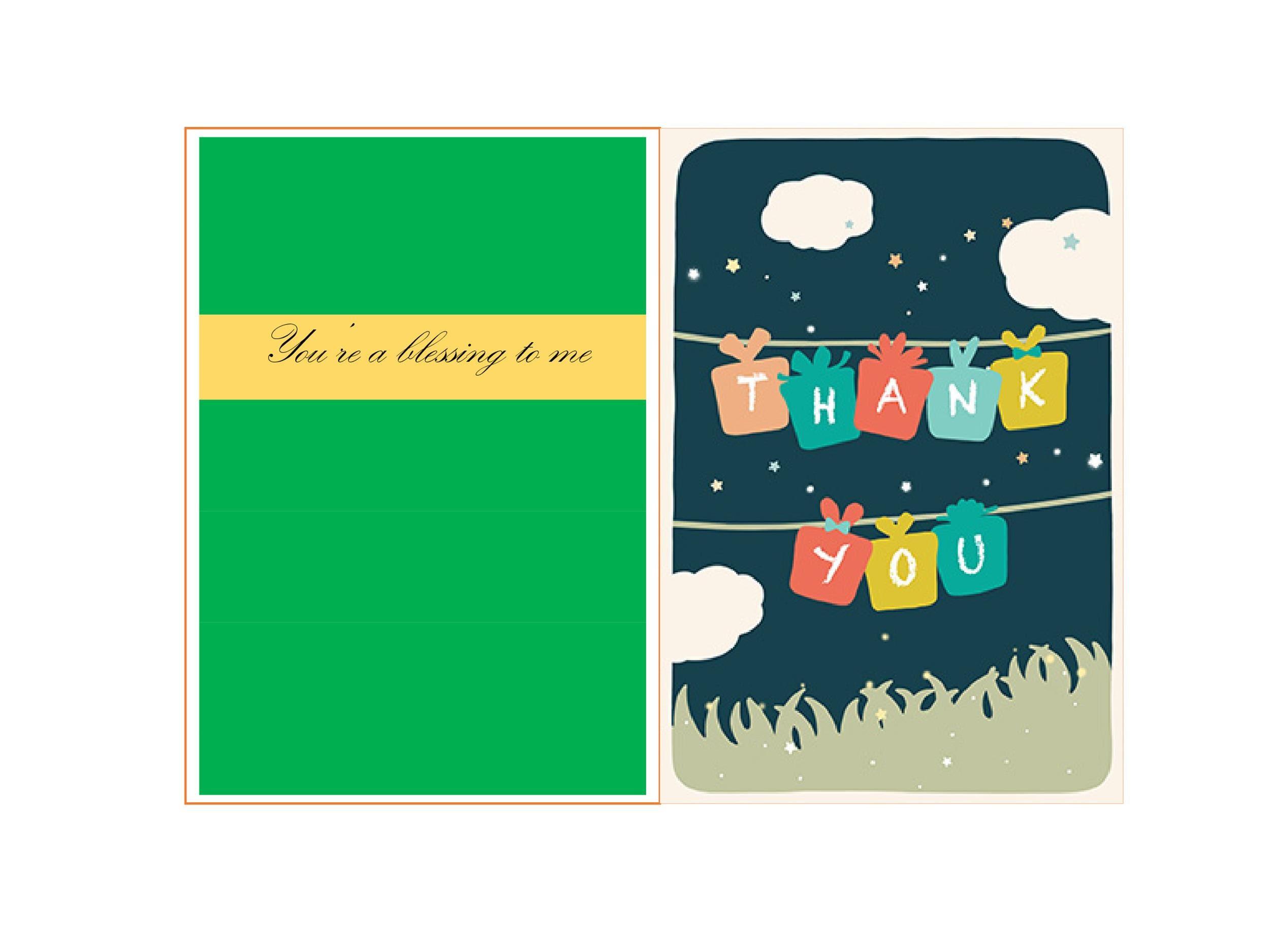 30 Free Printable Thank You Card Templates Wedding Graduation