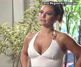 Carla Regina super sensual na novela Bela a Feia