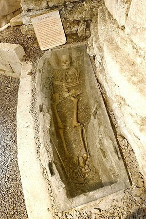 Remains of a Russian priest who presumably lived 900 years ago.