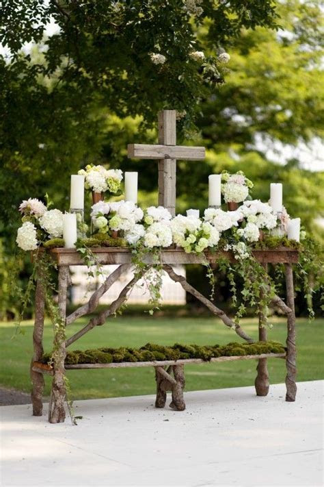 A Southern 'I Do'   Wedding alter decorations and Altars