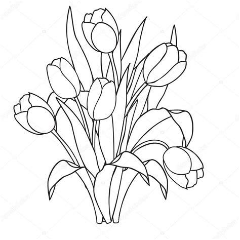 ausmalbilder blumen tulpen - kostenlose malvorlagen ideen
